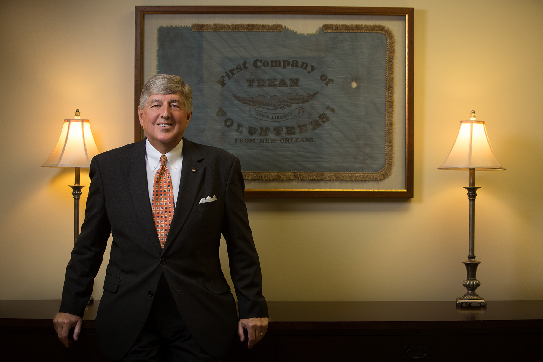 Texas Citizens Bank Chief Operating Officer, Jimmy Allen at Pasadena, Texas banking center and headquarters